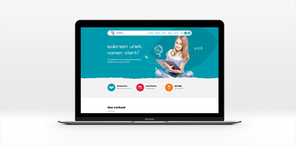 Webdesign Basisschool De Bron